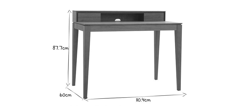 Scrivania design con spazi per riporre i propri oggetti in legno di noce SEKRET