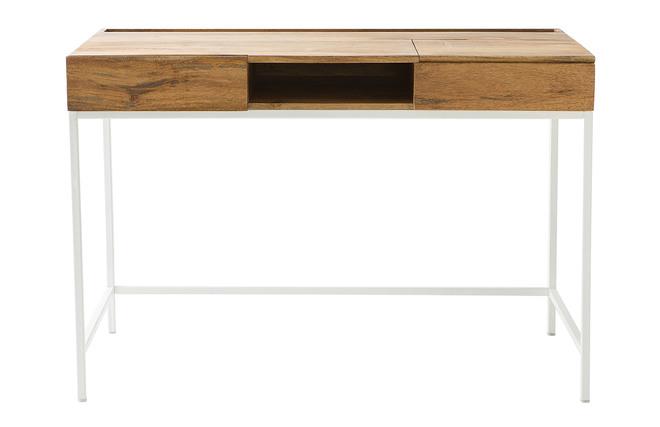 Scrivania In Legno Chiaro : Scrivania design in legno di mango e metallo bianco boho miliboo
