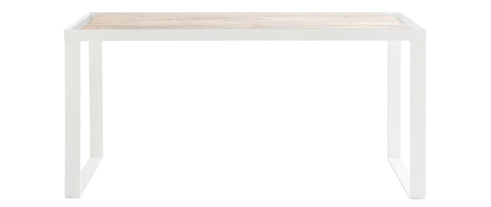 Scrivania design in mango e metallo L150 cm PUKKA