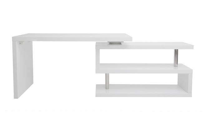 Oggetti Da Ufficio Design : Scrivania design laccata bianca max miliboo