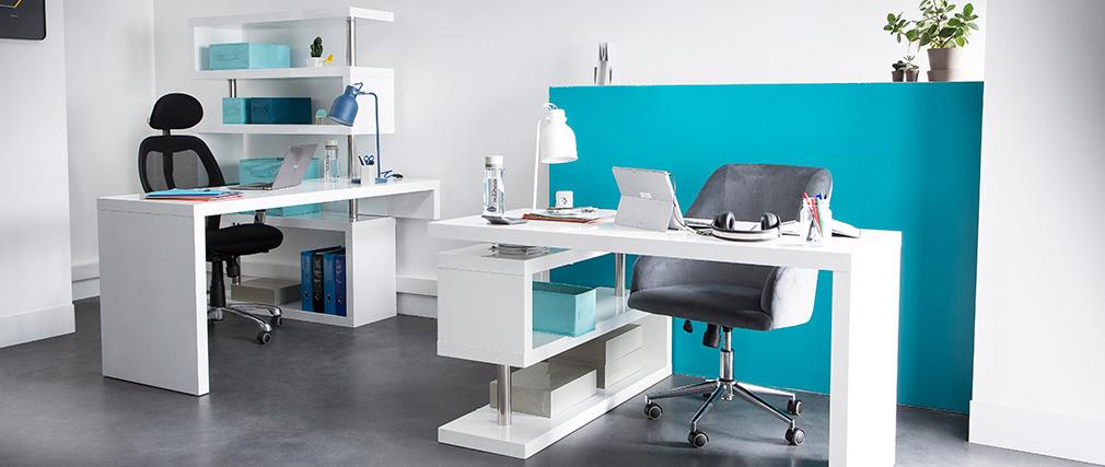 Scrivania design laccata bianca T-MAX