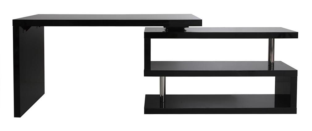 scrivania design laccata nera max miliboo. Black Bedroom Furniture Sets. Home Design Ideas