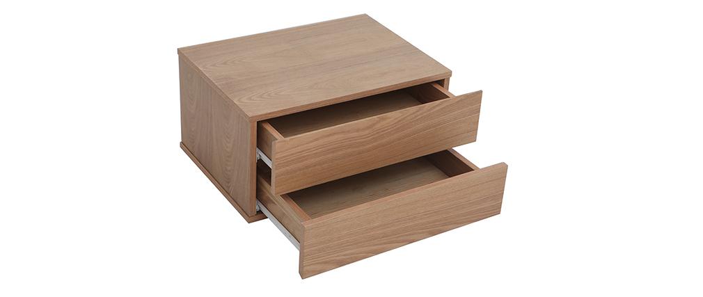 Scrivania design modulare con vano contenitore 2 cassetti rimovibili legno MAX