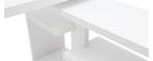 Scrivania girevole HALTON laccata bianco lucido L147-217 cm