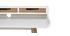 Scrivania scandinava in legno Bianco con spazi per riporre i propri oggetti OPUS