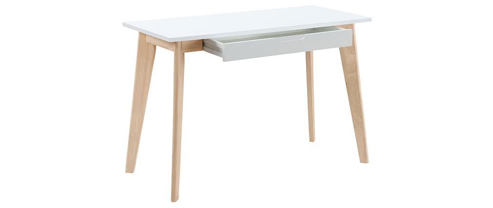 Scrivania scandinava in legno Bianco LEENA
