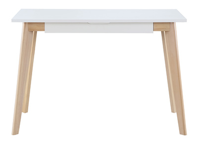 Scrivania scandinava, in legno, colore: Bianco, modello: LEENA