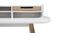 Scrivania scandinava in legno e bianco 2 cassetti L140 cm OPUS