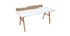 Scrivania scandinava legno e bianco L180 cm TOGARY