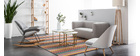 Sedia a dondolo design con scocca di colore: Bianco e tessuto di colore: Grigio KOKON