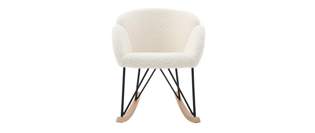 Sedia a dondolo design in tessuto pelle di pecora RHAPSODY