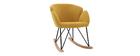 Sedia a dondolo design velluto giallo senape RHAPSODY