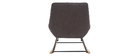 Sedia a dondolo di design in tessuto effetto velluto grigio scuro BILLIE