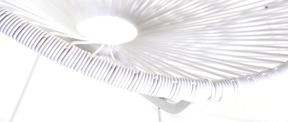 Sedia a dondolo in fili di resina Bianco BELLAVISTA