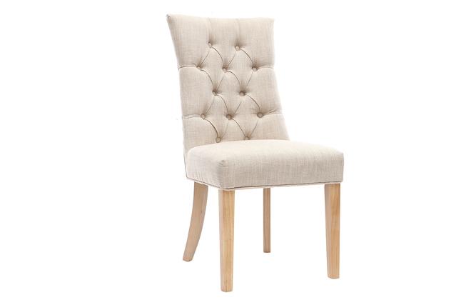 Legno Naturale Chiaro : Sedia classica in tessuto naturale con piedi in legno chiaro