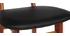 Sedia da bar design in legno di noce Nero 75 cm NORDECO