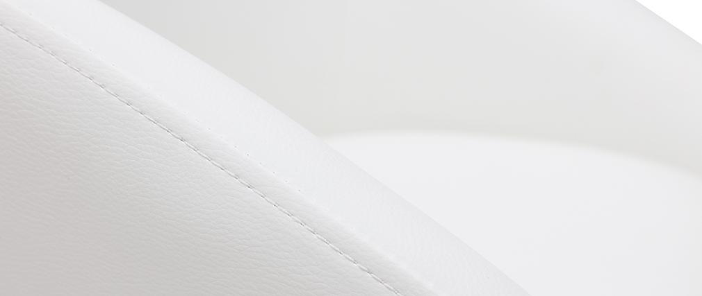 Sedia da ufficio design bianca COLIN