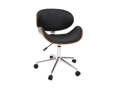Prezzi Sedie Da Ufficio.Sedia Da Ufficio Design Colore Nero E Legno Walnut