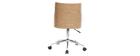 Sedia da ufficio design in poliuretano Bianco e legno chiaro MAYOL
