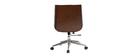 Sedia da ufficio design legno scuro e nero CURVED