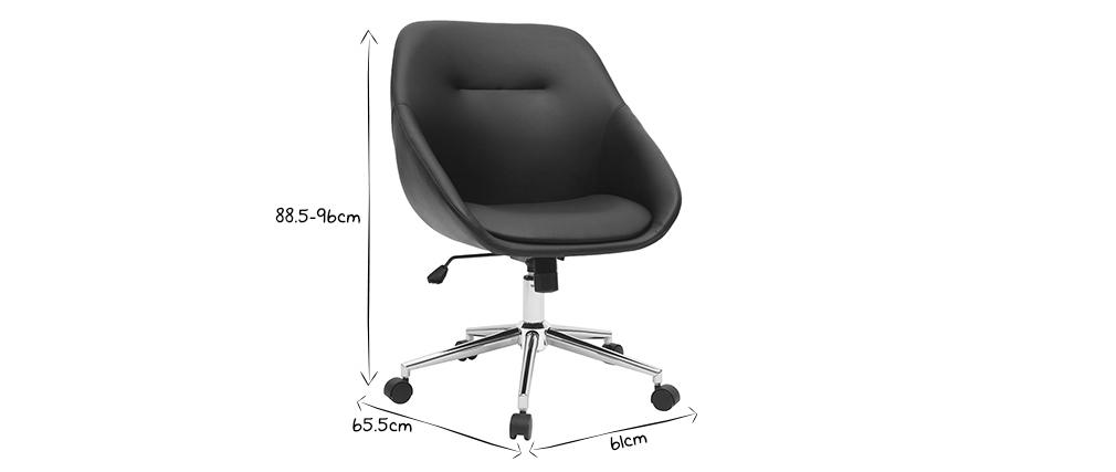 Sedia da ufficio design nera COLIN