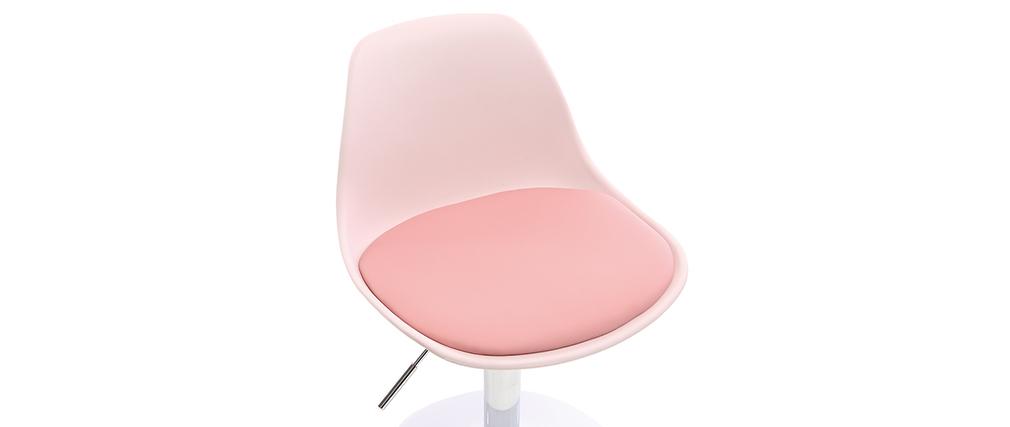 Sedia da ufficio design per bambino rosa STEEVY