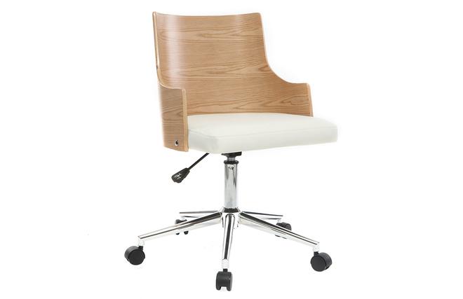 Ufficio Bianco E Legno : Sedia da ufficio di design in poliuretano colore bianco e