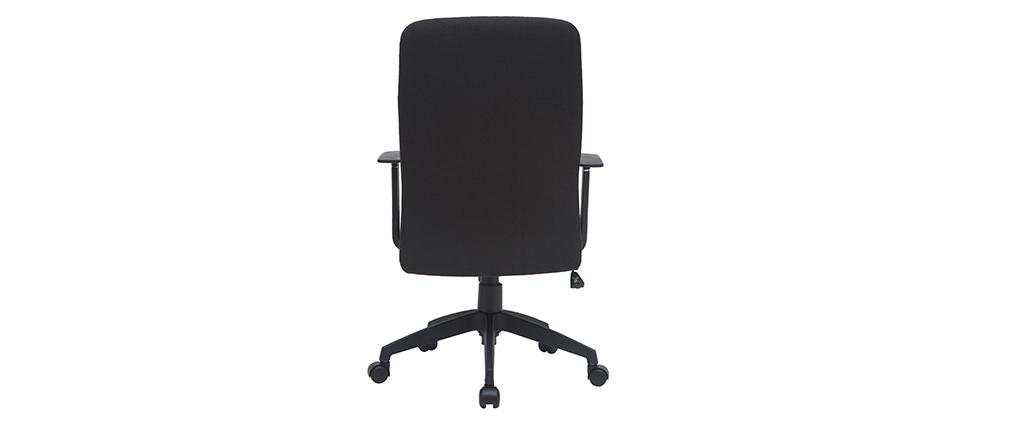 Sedia da ufficio di design in tessuto nero ZELLY