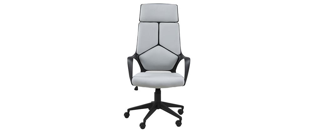 Sedia da ufficio di design YALE grigia e nera
