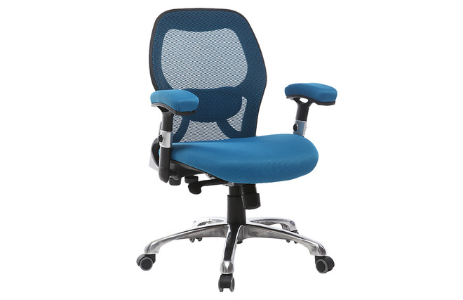 Sedie Da Ufficio Ergonomiche : Sedia da ufficio ergonomica colore blu modello ultimate v
