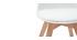 Sedia design bianca con piedi in legno BABY PAULINE