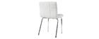 Sedia design bianco imbottita POLLY