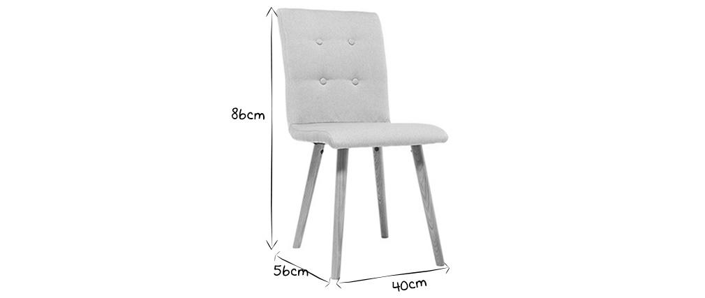 Sedia design grigio chiaro e legno set di due HORTA
