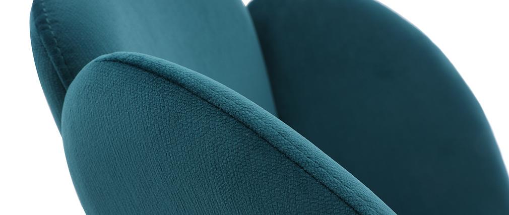 Sedia design in tessuto blu petrolio FLOS