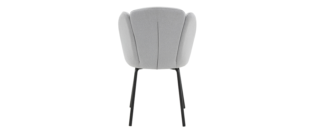 Sedia design in tessuto grigio chiaro FLOS