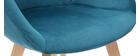Sedia design in velluto blu petrolio TAYA