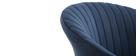 Sedia design in velluto Blu scuro REQUIEM