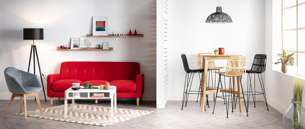 Sedia design in velluto grigio TAYA