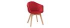 Sedia design in velluto rosso TAYA