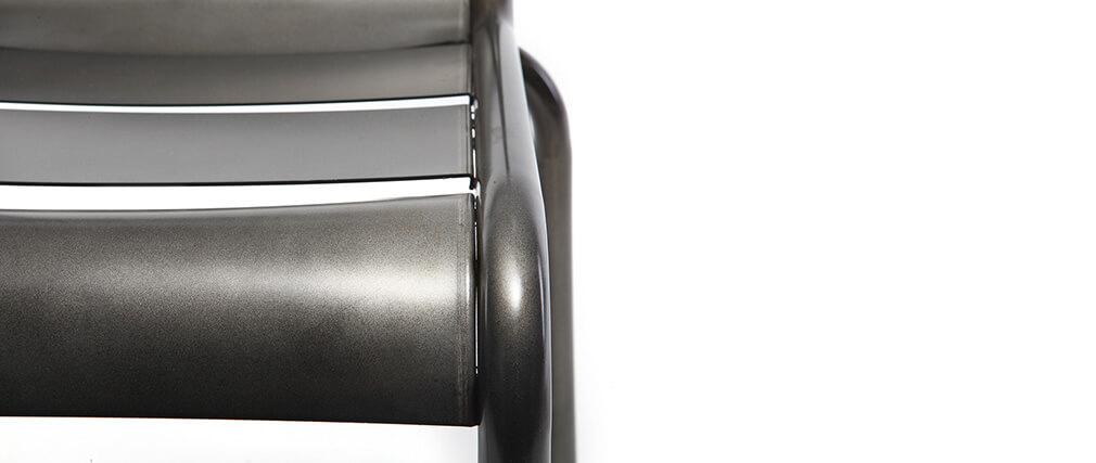 Sedia design metallo inox gruppo di 2 SHERMAN