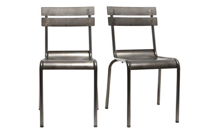 Feltrini Per Sedie Di Metallo : Sedia design metallo inox gruppo di sherman miliboo