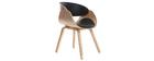 Sedia design Nero e legno chiaro BENT