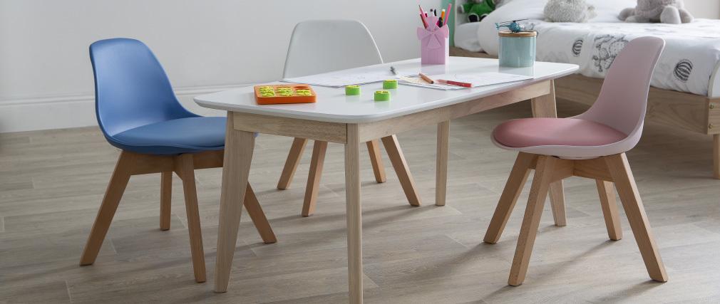 Sedia design rosa con piedi in legno BABY PAULINE