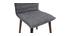 Sedia design tessuto grigio antracite gambe legno scuro gruppo di 2 IZAL