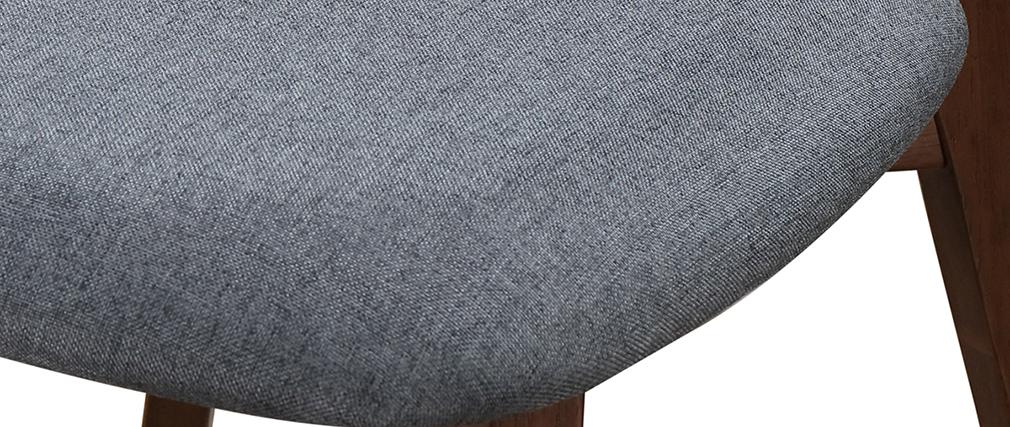 Sedia design vintage grigio e piedi noce gruppo di 2 MARIK