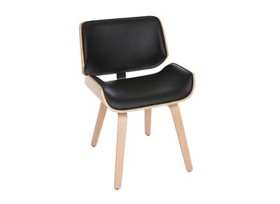 Sedia di design, colore: Nero e legno chiaro, modello: RUBBENS