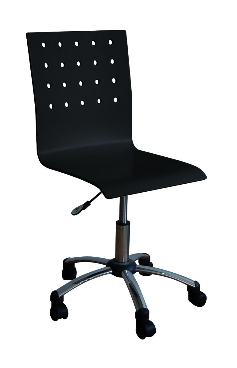 Sedia d'ufficio ALESSIA nero con rotelle - Miliboo