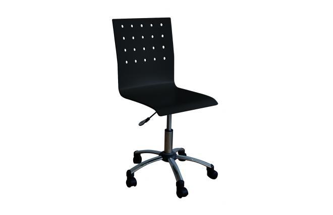 Sedia d 39 ufficio alessia nero con rotelle miliboo - Sedia con rotelle ikea ...