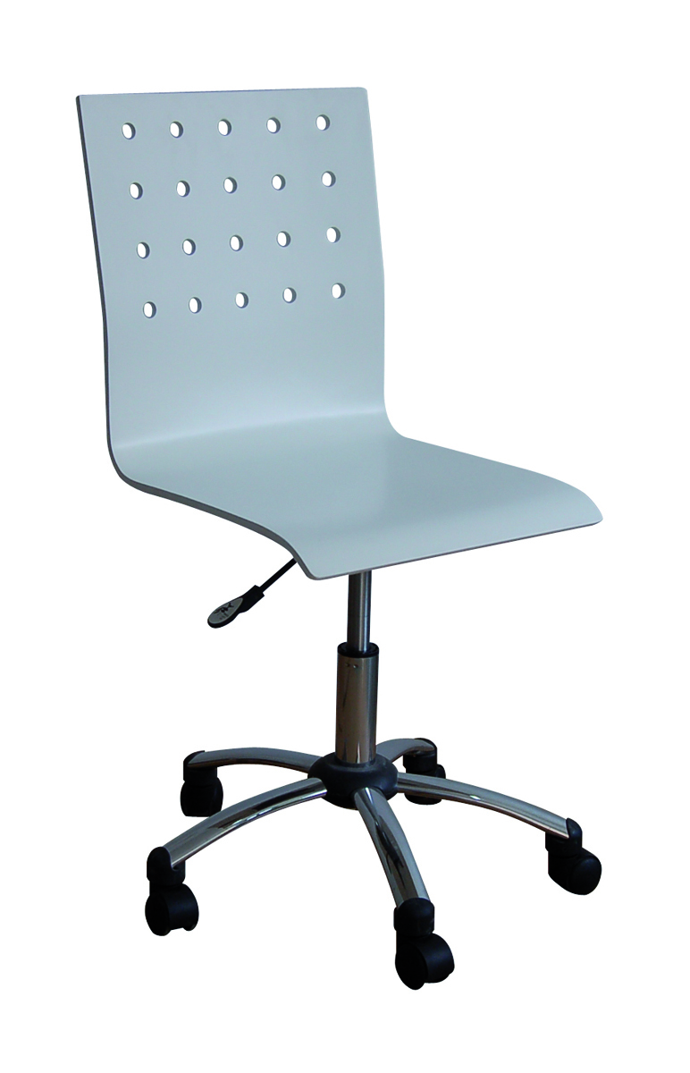 Sedia d 39 ufficio bianca con rotelle alessia miliboo - Sedia con rotelle per ufficio ...
