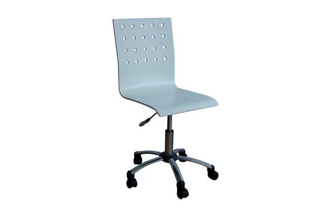 Sedia d 39 ufficio bianca con rotelle alessia miliboo for Sedia ufficio rotelle